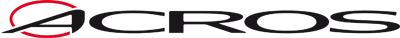 Acros logo blackred vector